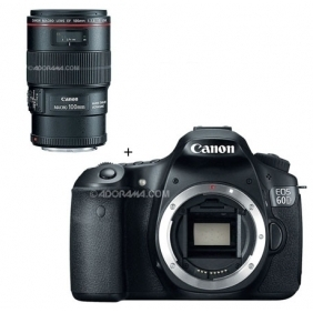 Wholesale Canon EOS 60D Digital SLR Camera Body, with EF 100mm f/2.8L IS USM Macro Auto Focus Lens