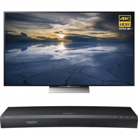 "Wholesale Sony 65"" Class 4K HDR Ultra HD TV - XBR-65X930D w/ Samsung Blu-ray Disc Player"